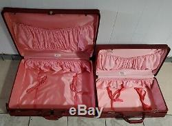 Vintage Hartmann Deep Red Luggage 2 Pieces with KEYS Beautiful Clean Set