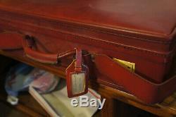 Vintage Hartmann Luggage CLEAN Red 3 Pc Bag and Makeup Vtg Train Case Retro Set