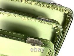 Vintage Nesting Luggage Set of 3 Avocado Green Vacationer 1960s