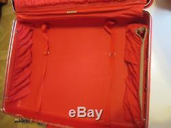 Vintage Rare Samsonite Saturn Red Suitcase Luggage 2 pc Set Hard Case