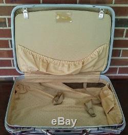 Vintage Samsonite Red Maroon Hardside Luggage Suitcase Set 2 Pieces