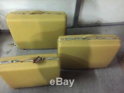 Vintage Samsonite Saturn Suitcase 3 Piece Set