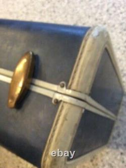 Vintage Samsonite Suitcase Blue Marble Mid Century Modern Large Matching Set 2