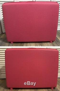 Vintage Set of 3 Samsonite Saturn Barbie Hot Pink Hard Luggage Suitcases With Key