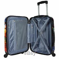 World Traveler 4-Piece Hardside Spinner Luggage Set Paris Nights