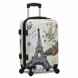 World Traveler Destinations 3-Piece Hardside Spinner Luggage Set Paris