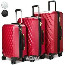 19v69 Italia Arrow 3 Piece Luggage Set Valise Spinner