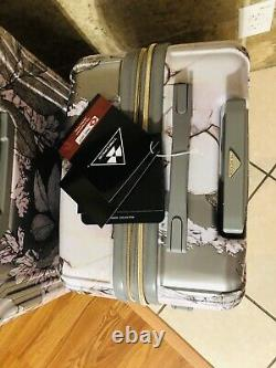 2- Pc Hardside Spinner Bagage Set D'impression Florale Avec Serrure Tsa