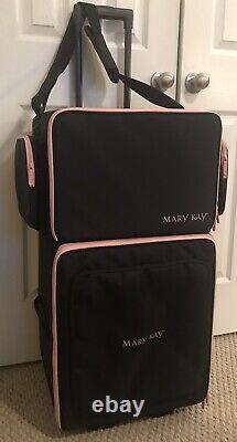 2-pc. Mary Kay Set Consultant Demo Shoulder Bag & Wheeled Travel Luggage Euc