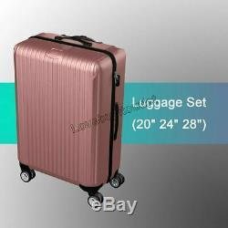 20 ' ' 24 ' ' 28 ' ' 3 Morceaux Sac De Consigne Voyage Bagages Valise Avec Rouets