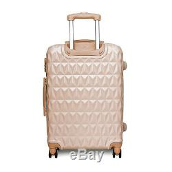 20/24/28 Petit Grand Valise Hard Shell Voyage Trolley Bagages À Main En Or Rose