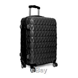 20/24/28 Petit Grand Valise Hard Shell Voyage Trolley Bagages À Main Noir