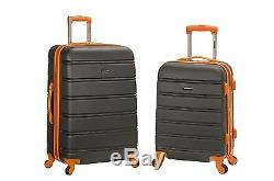 20, 28 2 Piece Expandable Spinner Luggage Set Dur Charbon