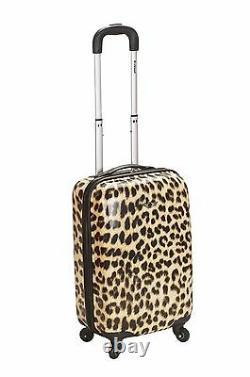 20 Carry On Spinner Hard Polycarbonate Leopard Nouveau