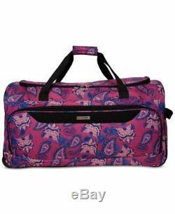 249 $ Tag Voyage Springfield III Imprimer 5 Piece Set Valise Bagages Violet Floral