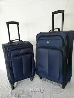 $280 Tag Daytona 4 Piece Set Suitcase Spinner Luggage Blue Travel Bag