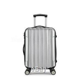 2pcs / Set Unisexe Voyage Valise Chariot À Bagages Valise Case Roulant Mot De Passe