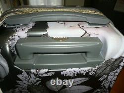 3 Pc Hardside Triforce Spinner Bagage Floral Print Set Avec Serrure Tsa
