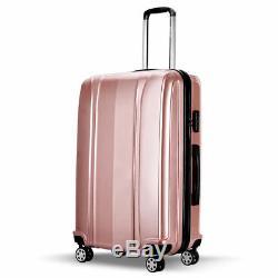 3 Pc Rose Luggage Set Voyage Poignée Trolley Valise De Verrouillage 360 spin 4 Roues