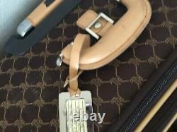 3+ Pc Set Vtg Brown Ralph Lauren Monogram Bagage Set Valise Sac Garmet