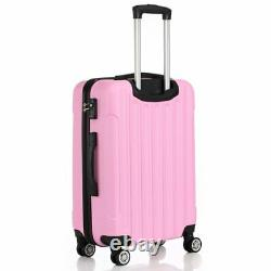 3 Pcs Luggage Set Voyage Sac Abs Trolley Valise Hard Shell Serrure Withtsa