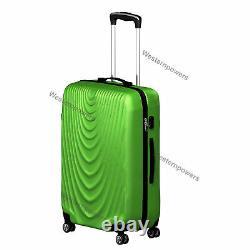 3 Piece Lightweight Suitcase Hardside Spinner Luggage Set 20'' 24'' 28'' Vert