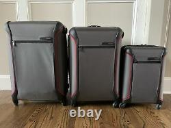 3 Piece New Tumi Luggage Set In Gray (pdsf 2 235 $) Nylon Balistique 4 Roues