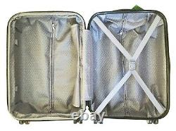 3pc Bagage Set Hardside Rolling 4wheel Spinner Carryon Travel Case Purple