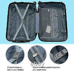 3pcs 20 24 28 Bagage Set De Voyage Sac Abs Trolley Suitcase Spinner Hardshell