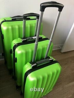 3pcs Bagages Voyage Ensemble Abs Sac Trolly Valise Shell Dur Withtsa Lock