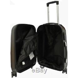 3pcs Hard Shell Valise Set Set De Bagages Voyage Main Cabine Case 4 Roues Chariot
