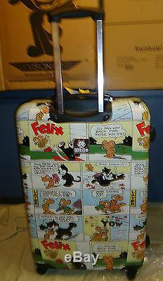 4 Luggage Set Nouveau Visionair Felix The Cat Comic Book'd 4 Pièces Hardside Spinner