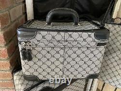 4 Pc Ralph Lauren Signature Monogram Rl Logo Voyage Luggage Set Black Gray Euc