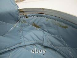 4 Pièce Vtg MCM Hard Shell Case Suitcase Luggage Set Blue Vinyl Nesting Stacking