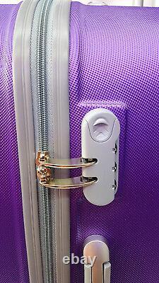 4 Wheel Spinner Hard Shell Trolley Suitcase Luggage Set Cabin Case Travel Bag Royaume-uni