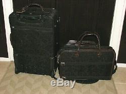 5 Pièce Brighton Noir / Brun Luggage Set Vgc