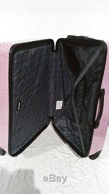 500 $ Nouveau Steve Madden Signature 6 Pc Luggage Set Dur Valise Spinner Rose