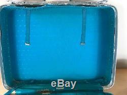60 Vintage Set 2 Bagages Samsonite Voyage Teal Aqua Floral Suit Case Mod