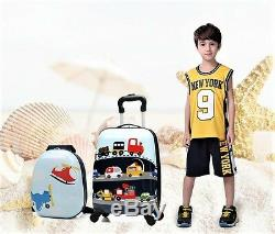 Abs Enfants Hello Kitty Voitures Trucks Garçons Gilrs Chariot À Bagages Sets Valise