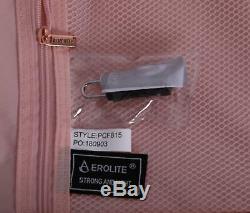 Aérolithe 55cm Hard Shell 4 Tenir Roue Voyage Cases Sac De Cabine Bagages Fard À Joues Rose