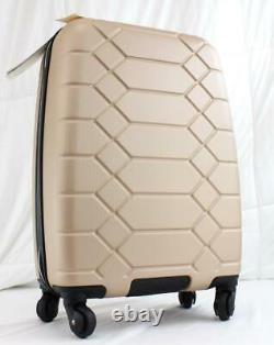 Aimee Kestenberg Diamond Set Hardside Carry On Suitcase And Kit Light Gold