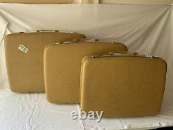 Airway Vintage Three Piece Set Luggage Hardcase Valise Jaune