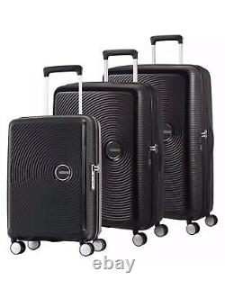 American Tourister Curio 3 Pièces Hardside Spinner Set Black New With Tags