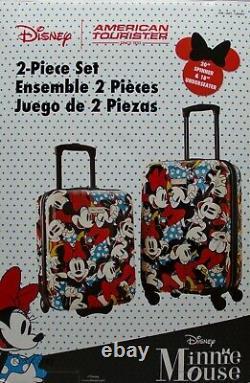 American Tourister Disney 2 Pièces Minnie Mouse Ensemble De Bagages À Main Rigide