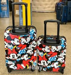 American Tourister Enfants Disney 2 Pièces Carry & Sur Underseat Luggage Set Minnie