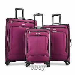 American Tourister Pop Max 3 Piece Luggage Set Spinner 29/25/21 (berry)