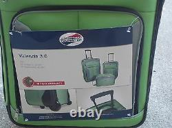 Americn Tourister- Chartreuse Green 3 Peice Luggage Set With 4 Free! Cadeaux