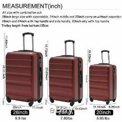 Anti-rayures Hardside Spinner Jeux De Bagages 3 Pièces Luggage Set Livraison Gratuite