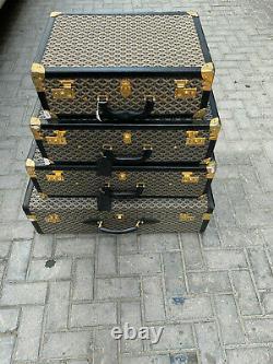 Antique Goyard Valise (set De 4 Pièces)