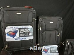 Aspire Samsonite Xlite Extensible Softside Spinner Luggage 3 Piece Set